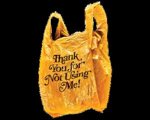 yellow retro aethetic arthoe plasticbag eco ecofriendly freetoedit