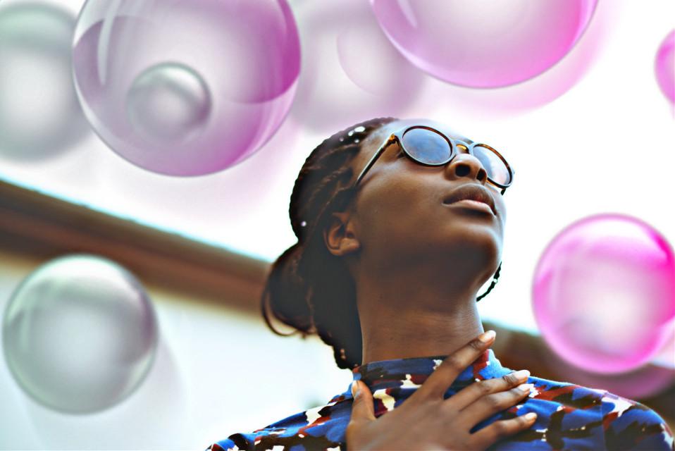#freetoedit #woman  #bubbles  #colorful  #pink  #amazing  #love #interesting  #fantasy  #beauty