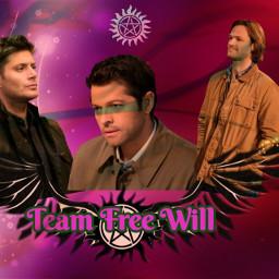 teamfreewill deanwinchester samwinchester castiel supernatural freetoedit