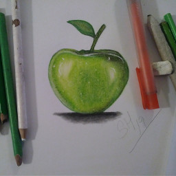 drawing draw apple colorful pencilart