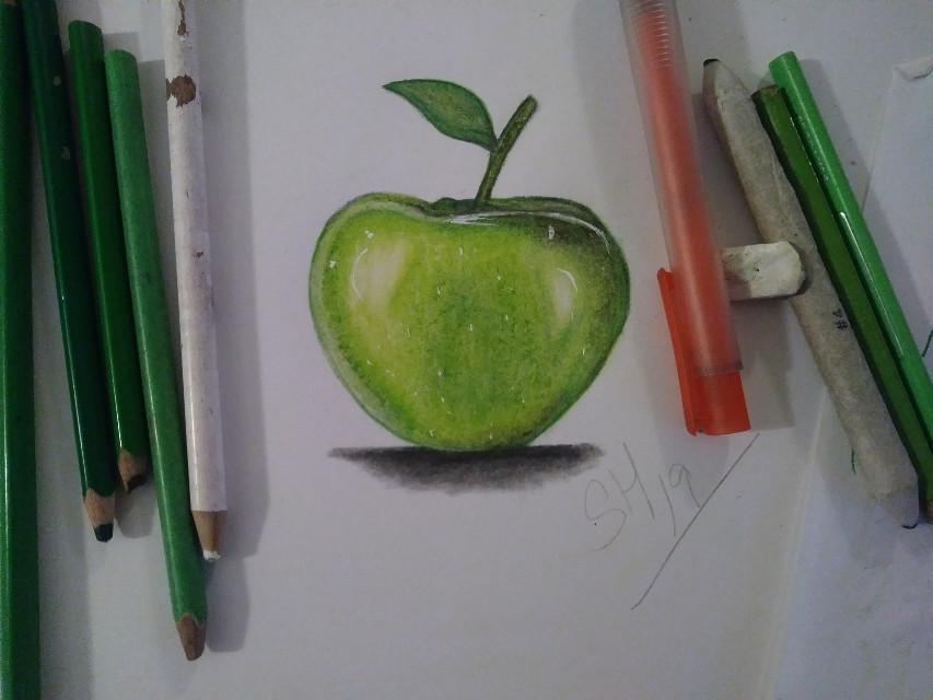#drawing #draw #apple #colorful #pencilart #pencildrawing #crayonart