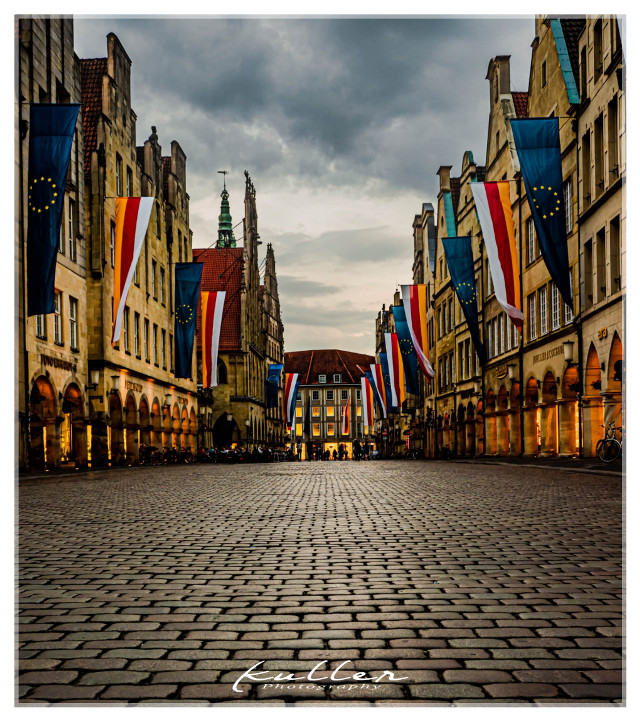 Midtown of Münster  #münster ##germany #city #nightphotography  #freetoedit
