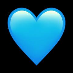 big heart blue lightblue huge freetoedit