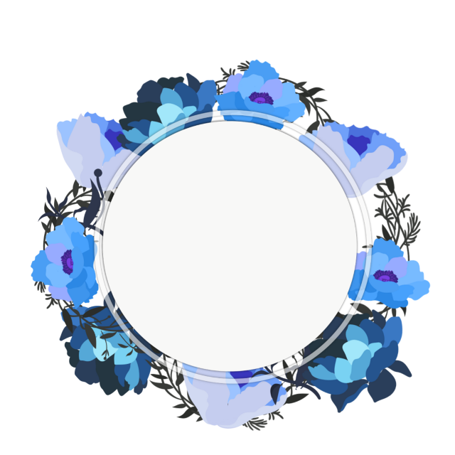 #ftestickers #watercolor #flowers #background #frame #blue