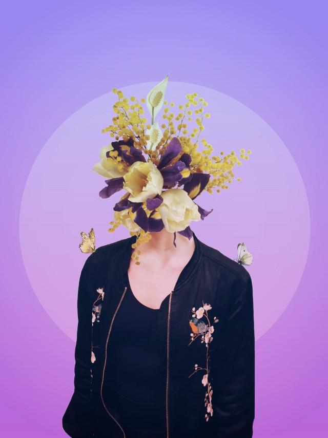 #ecflowerhead #flowerhead image by @sonyxperiakim flowers by @ladymariacristina #drawtools #layers #surreal #headless #photomanipulation #editstepbystep