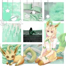 freetoedit leafeon anime cute