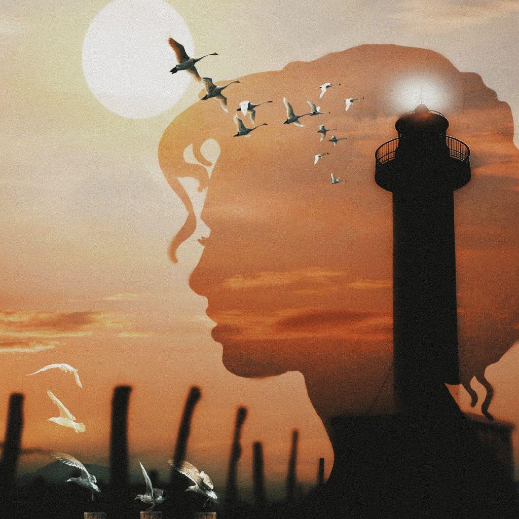 #silhouette #double_exposure #doubleexposures #doubleexposure #women #lighthouse #sunset #myedit #madewithpicsart #picsartedit #manipulation #becreative #creativeedit