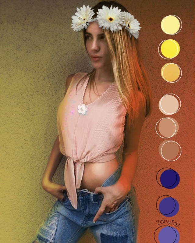 #colorpalette #paletteshow #palette  Color #tones that best works for Charo. 🍃🌼🍃 #model @charolandia #filters #magiceffect #photomanipulation #freetoedit