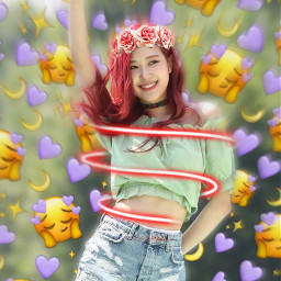 freetoedit blackpinkrosè ringlight flowercrown emojibackground