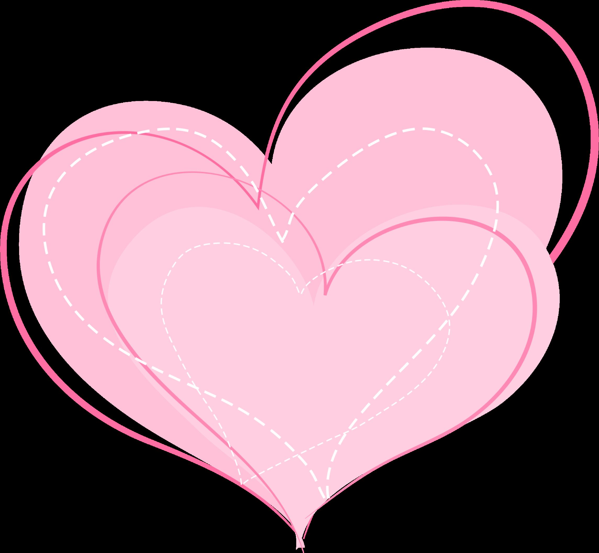 Картинки с сердечками розовыми