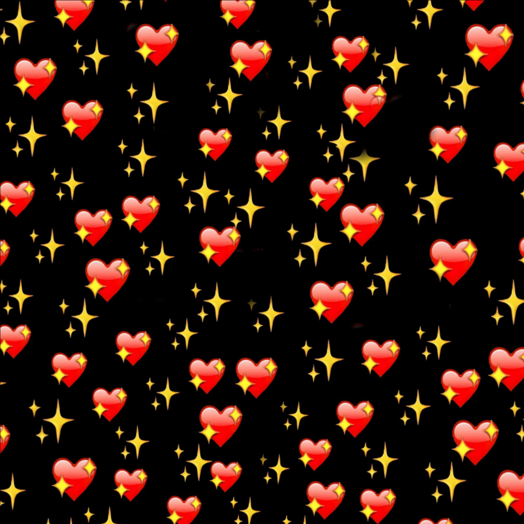Картинка из сердечек смайлов