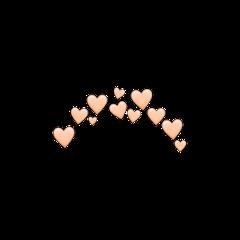 orange peach crown hearts heart freetoedit