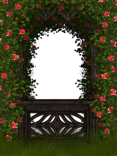 ftestickers garden flowers arch gate freetoedit
