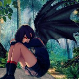freetoedit anime girl cute demon