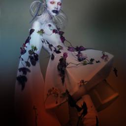 scary vogue model colorgradient art freetoedit