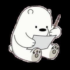 bear webarebears write pencil polar freetoedit