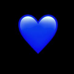 blue blueheart heart wallpaper awesome freetoedit