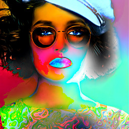 freetoedit myoriginalwork originalart womanportrait conceptualart ircsunglasses dayglow