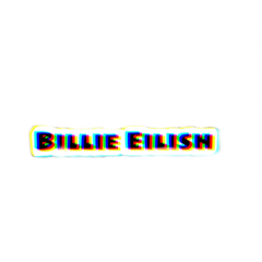freetoedit billie eilish text glitch