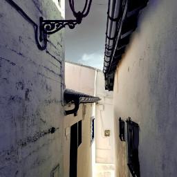 street facades blackandwhite photography lamppost