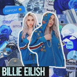 freetoedit billieeilish aesthetic blue