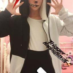cosplay monokuma monokumacosplay danganronpa danganronpacosplay freetoedit