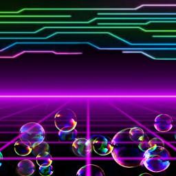 freetoedit neon 80s electric fantasy