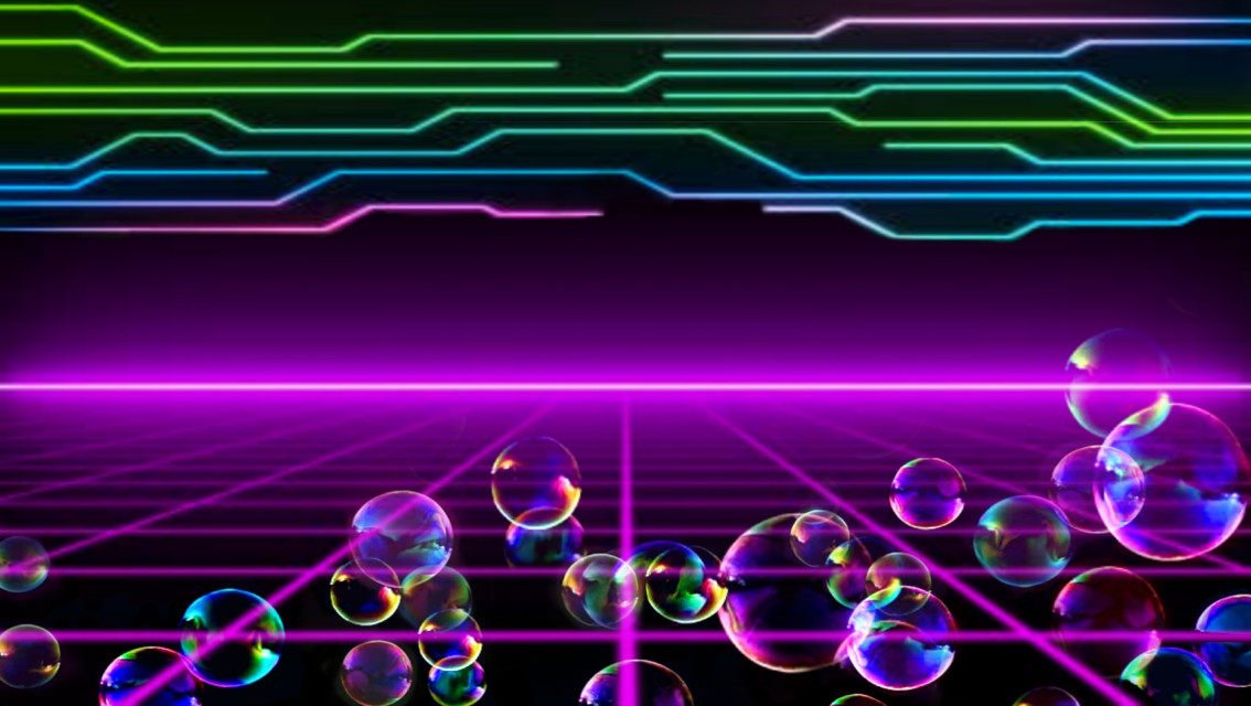 #freetoedit #neon #80s #electric #fantasy #background #bubblesforbearby