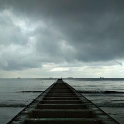 freetoedit sky cloudysky rainyday beach