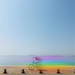 freetoedit blureffect motionblur rainbowlight bicycle