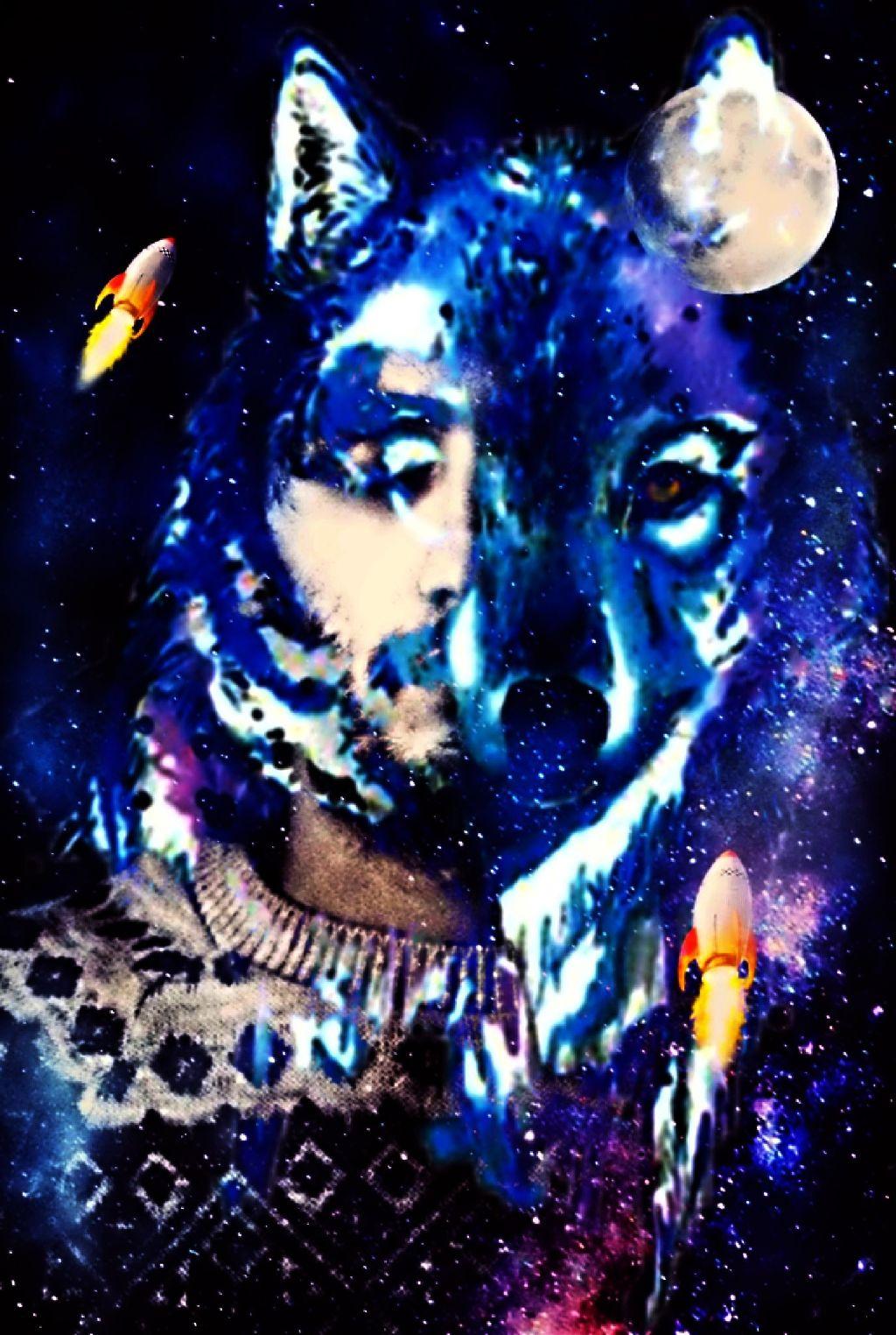 #freetoedit #doubleexposure #doubleexposures @andreiaserra12 #wolf #moon #nigth #blue #sky #heavens #heavensent #human #humans #fallow_me #trumblr #vote #like
