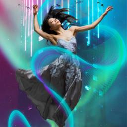freetoedit neon float neonswirl magicfx ircneonremix
