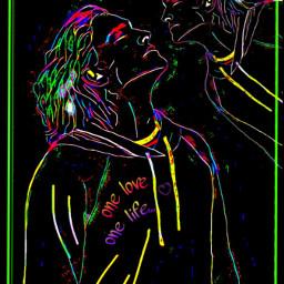 freetoedit neonremix fantasy neon black ircneonremix