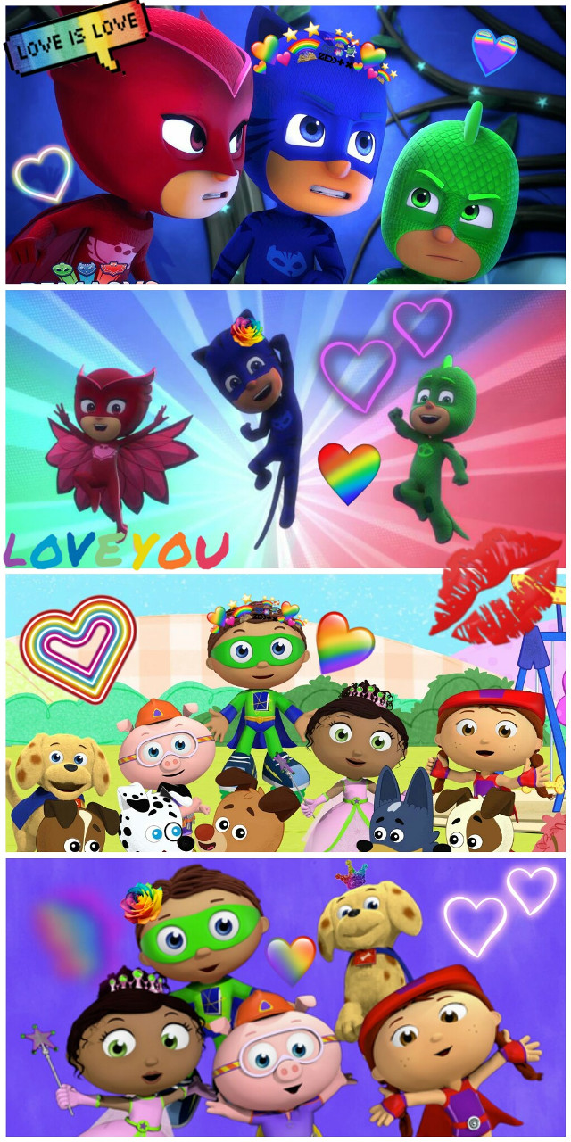 #freetoedit #PjMasks #SuperReaders #SuperWhy #superheroes #cartoon #cute #pbskids #disneyjunior #friendship #love