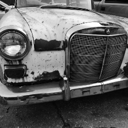 blackandwhite vintage abandoned car photography