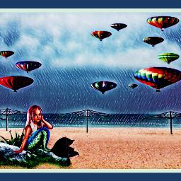 freetoedit mermaid srchotairballoons hotairballoons