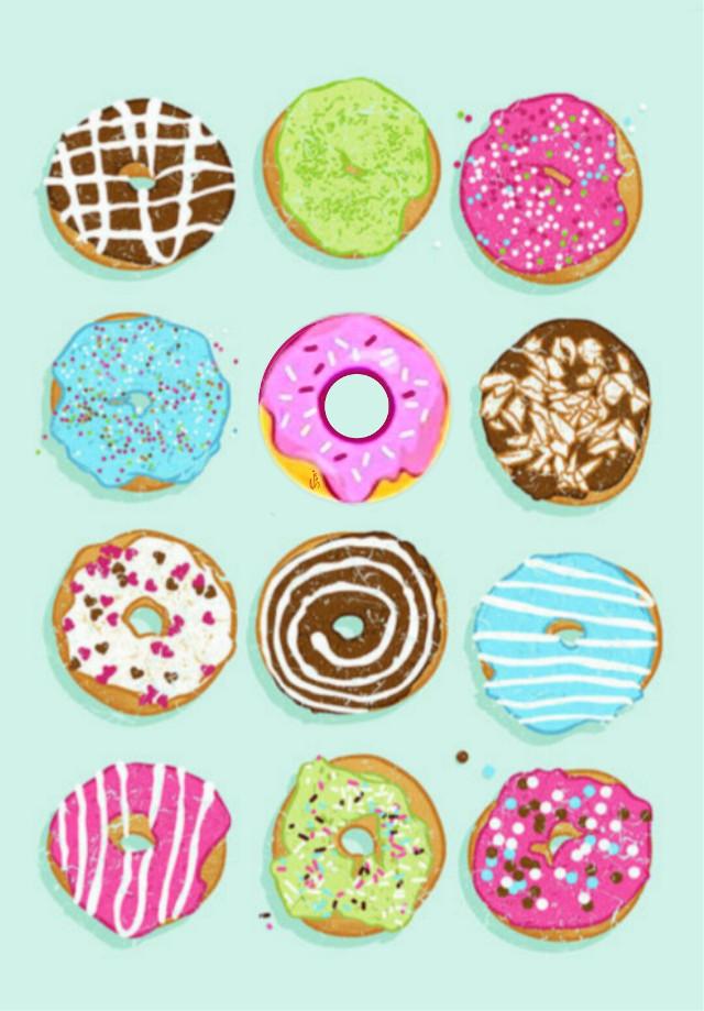 #freetoedit #donuts #yummy