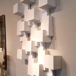 modern cubes blocks wallart