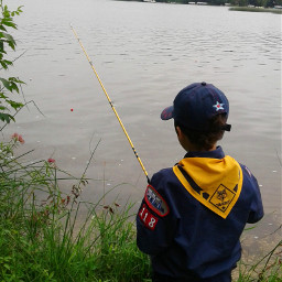 matthew cubscouts arrowhead camp fishing pccampday