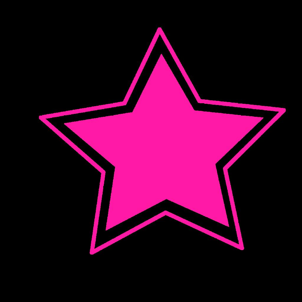 Resultado de imagen de estrella rosa png