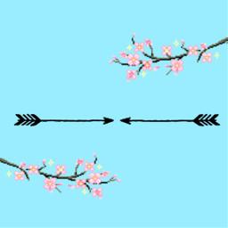 freetoedit separator arrow sakuraflower pixel