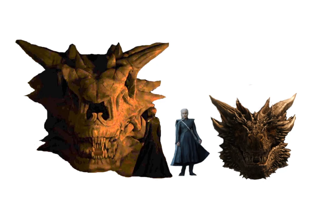 Size of Balerion the Dread vs  Drogon  drogon dragon