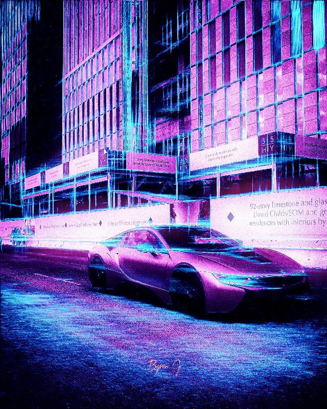 Image from @byrongaspard gallery #pencilart #pencileffect #car #sportcar #negativeeffect #hue #inverteffect #pinkandblue #madewithpicsart