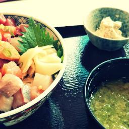 lunch sushi cuisine yummy japan
