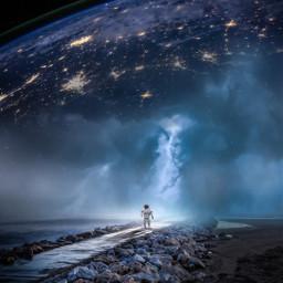 freetoedit picsart moon picoftheday astronaut