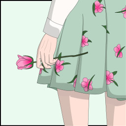 freetoedit flowers mint green skirt dcflowersaround