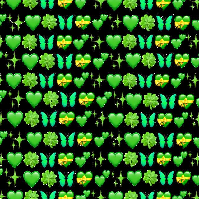 #green #emoji #greenemoji #background #greenbackground #iphoneemoji #freetoedit