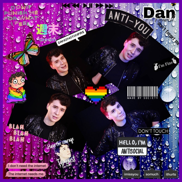 My next few edits will be in honour of Daniel Howell's beautiful and inspiring coming out video  Please go and watch the video, show him some love and support 💛💛💛💛💛 #freetoedit #danielhowell #danandphil #pride #comingout #support