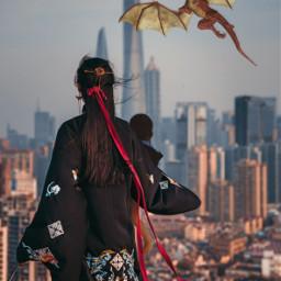 freetoedit dragon chinese chinesegirl chinesestyle