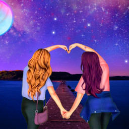 freetoedit girls love bestfriends bffs